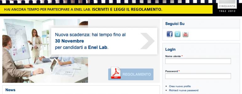 Con Enel Lab 20 borse a giovani ricercatori