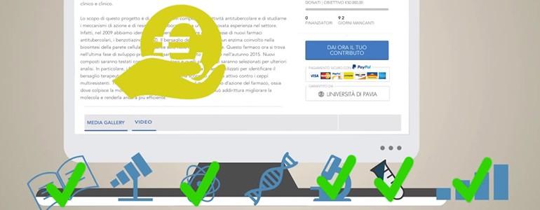 Tre anni di crowdfunding all'Università di Pavia. Il 6 marzo in aula Scarpa tutte le storie di successo