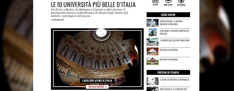 Pavia tra le 10 Università più belle d'Italia