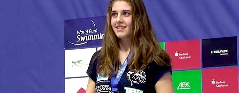 Studentessa unipv campionessa paralimpica di nuoto