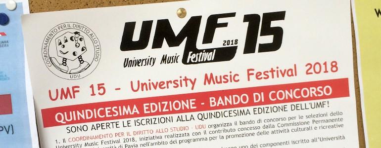 University Music Festival 2018, aperte le selezioni