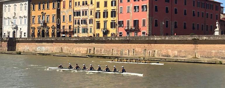 Il CUS Pavia vince la regata storica contro Pisa