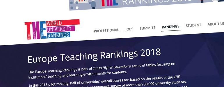La nuova classifica Times conferma l'eccellenza dell'Università di Pavia