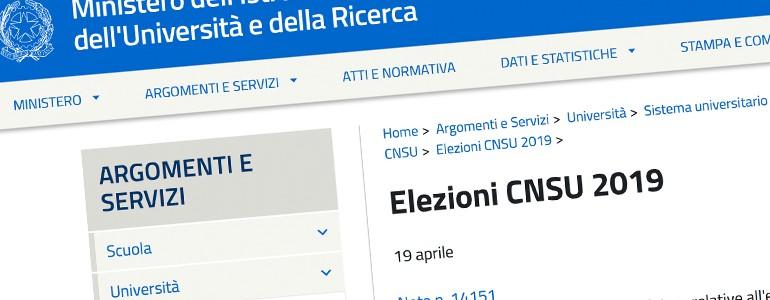 Il 14 e 15 maggio si vota per il Consiglio Nazionale degli Studenti Universitari-CNSU