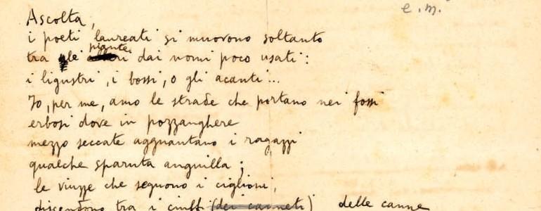 Bianca Montale in occasione dei 50 anni del Fondo Manoscritti: «Eugenio ha sempre detto di voler lasciar tutto quanto possedeva a Pavia» (video)