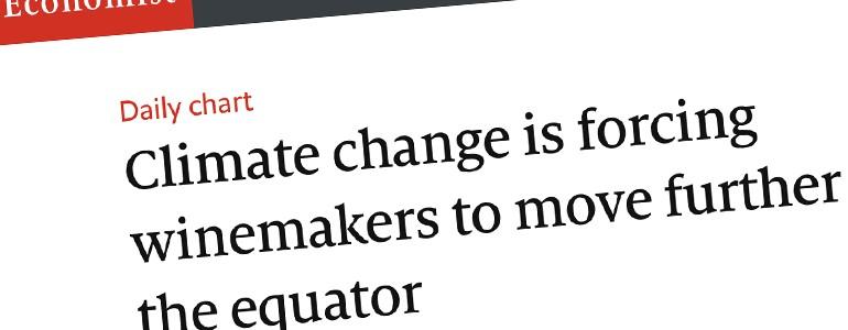 Spin-off dell'Università di Pavia sull'Economist con dati relativi al cambiamento climatico