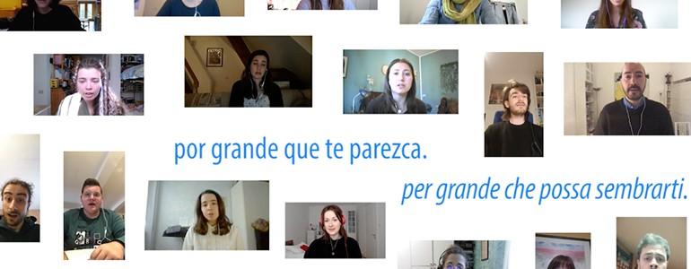 Il Coro di Musicologia si riunisce online e canta 'Esta Tierra' di Javier Busto (video)